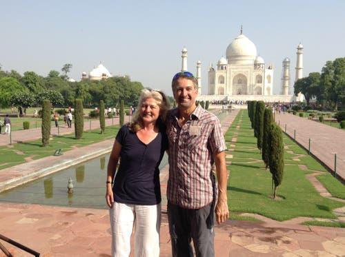 Taj Mahal, das Haupttouristenmagnet Indiens: ein Mausoleum von beispielloser Schönheit. (Bild: Walter Odermatt)