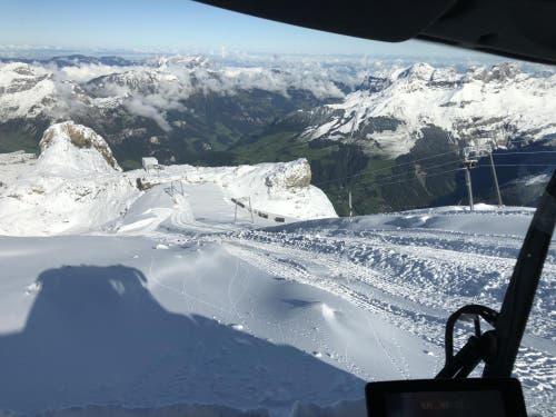 Blick auf die Gletscherpiste (Bild: PD)