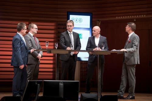 «Perspektiven 2020»: Im KKL Luzern drehte sich am Donnerstagabend alles um die Zentralschweizer Wirtschaft. Die besten Impressionen. (Bild: Manuela Jans-Koch, Luzern, 31. Oktober 2019)