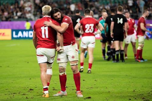 Die höchste Niederlage: Eine Rugby-WM ist noch immer eine Zweiklassengesellschaft. Wenige Nationen agieren auf Topniveau. Das mussten auch die Kanadier schmerzlich erfahren. Im Gruppenspiel gegen die Neuseeländer gingen sie sang- und klanglos mit 0:63 unter. (Bild: Getty Images)