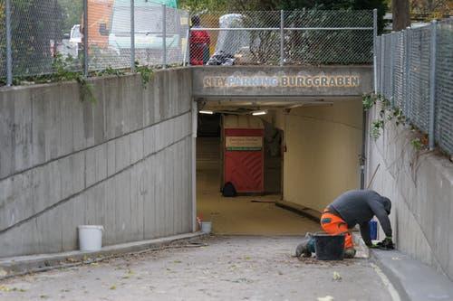 Auch an der Parkgarage Burggraben wird derzeit gebaut. Ende des Jahres sollen die Bauarbeiten auch dort abgeschlossen sein.
