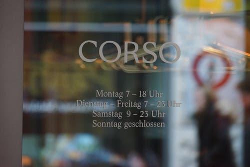Ende November eröffnet das Restaurant Corso.