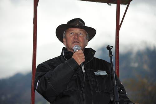 Regierungsrat Paul Winiker hielt den Festansprache. (Bild: Urs Hanhart, Rütli, 6. November 2019)