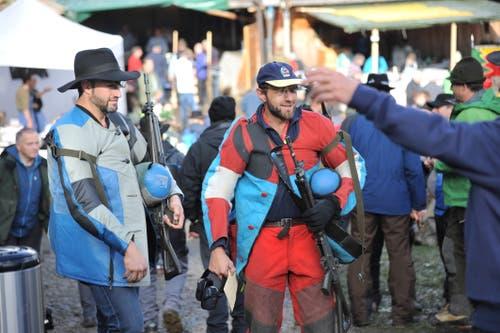 Die Schützen sehen zufrieden aus. (Bild: Urs Hanhart, Rütli, 6. November 2019)