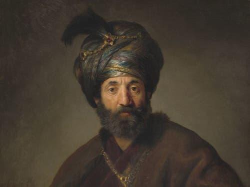 Rembrandt und Werkstatt: «Mann in orientalischem Kostüm» (um 1635). (Bild: Washington, National Gallery of Art, Andrew W. Mellon Collection)