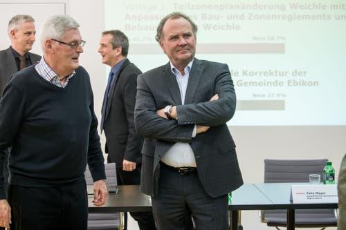 Felix Meyer, Geschäftsleiter der Migros-Genossenschaft Luzern, während die Gemeinde Ebikon über das Nein zum Projekt auf dem MParc-Areal informiert. (Bild: Nadia Schärli, 10. Februar 2019)