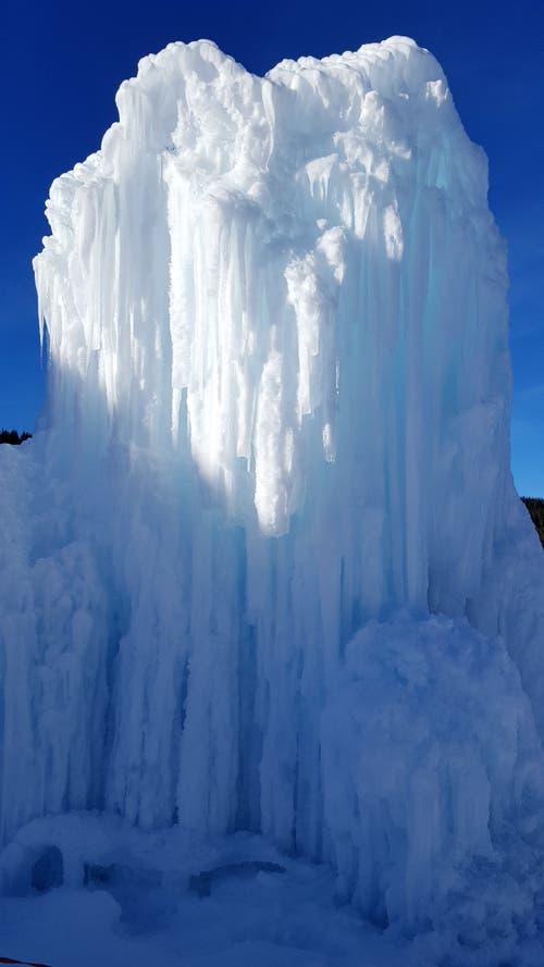 Die weisse Sphinx im Winterparadies auf dem Glaubenberg. (Bild: Willy Birrer (Langis Glaubensberg, 6. Februar 2019))