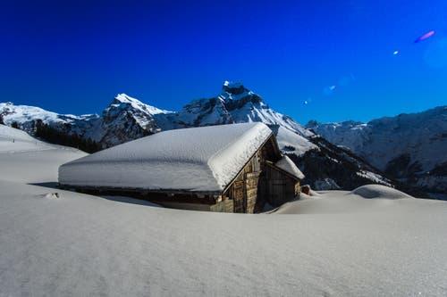 Ein Traumwintertag – Schnee in Hülle und Fülle. (Bild: Vinzenz Blum (Engelberg, 5. Februar 2019))