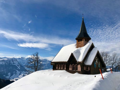 Pilgerkappelle auf der Haggenegg SZ. (Bild: Markus Brülhart, Haggenegg, 9. Februar 2019)