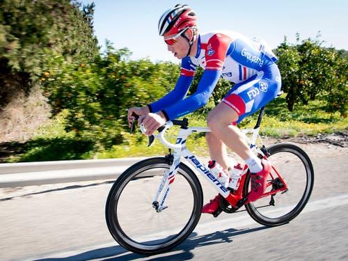 Der Schweizer Radprofi Stefan Küng bereitete sich in den letzten Tagen in Spanien auf die neue Saison vor (Bild: KEYSTONE/LAURENT GILLIERON)