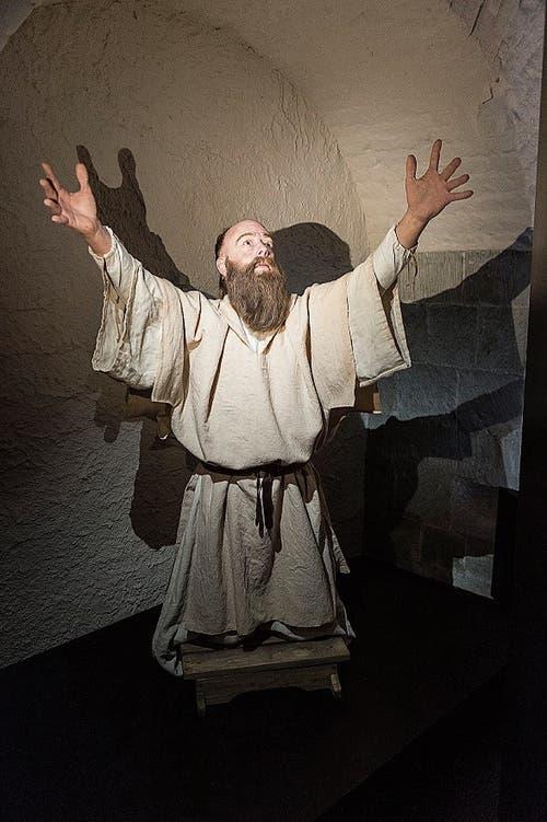 Der irische Mönch Gallus als Abenteurer - und für einmal nicht als Greis.