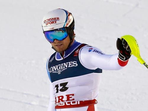 Mauro Caviezel - als Siebenter bester Schweizer und bester Abfahrer (Bild: KEYSTONE/EPA/VALDRIN XHEMAJ)