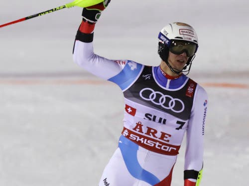 Ramon Zenhäusern - zusammen mit Wendy Holdener im Team-Wettbewerb unschlagbar (Bild: KEYSTONE/AP/ALESSANDRO TROVATI)