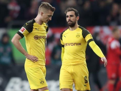 Mit Marco Reus und Paco Alcacer fehlen dem BVB beim Achtelfinal-Hinspiel bei Tottenham zwei der gefährlichsten Offensivspieler (Bild: KEYSTONE/EPA/FRIEDEMANN VOGEL)