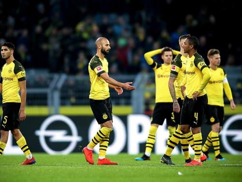 Borussia Dortmund hat schwierige Tage hinter sich. Der Leader der Bundesliga schied letzte Woche gegen Bremen im Cup aus. Einige Tage später verspielte er gegen Hoffenheim in der Schlussviertelstunde einen 3:0-Vorsprung. Das ist keine ideale Vorbereitung auf eine K.o.-Runde in der Champions League (Bild: KEYSTONE/EPA/FRIEDEMANN VOGEL)