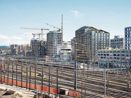 Grossbaustelle Europaallee beim Zürcher Hauptbahnhof. (Bild: KEY)