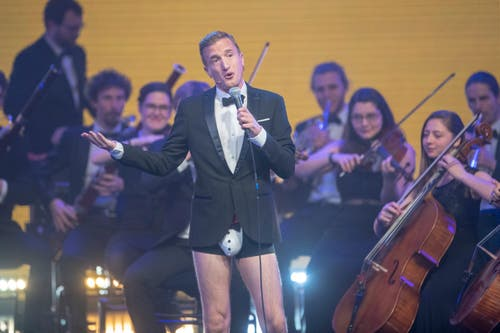 Stefan Büßer an den Swiss Music Awards. (Bild: KEYSTONE/Urs Flueeler)