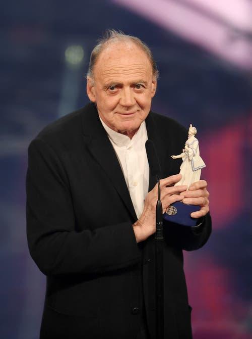 Der Schauspieler erhält am 20. Januar 2017 in München bei der Verleihung des Bayerischen Filmpreises im Prinzregententheater seine Auszeichnung. Er wurde mit dem Ehrenpreis des Ministerpräsidenten ausgezeichnet. (Bild: Keystone)