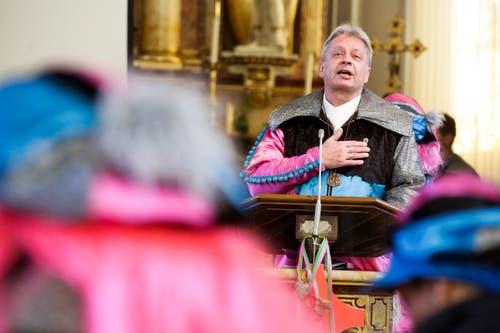 Guggengottesdienst in der katholischen Kirche Weinfelden am Sonntagmorgen. (Bild: Donato Caspari)