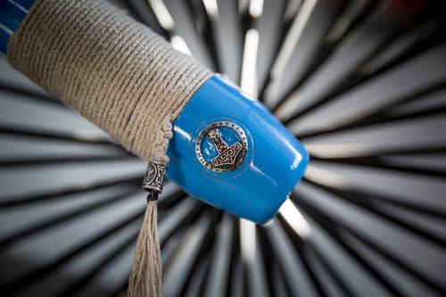 Auch die Telegabel des Choppers ist mit schmucken Details ausgestattet.