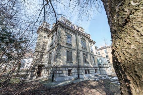 Die Rückseite der Villa Wiesental. (Bild: Hanspeter Schiess - 19. Februar 2019)