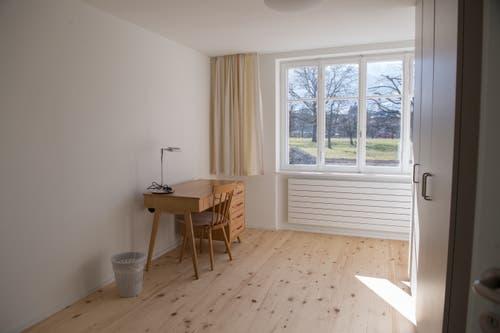 Hier zieht bald eine Benediktinerin vom Kloster Melchtal ein: Ein Zimmer im Josefshaus.