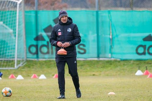 Der neue FCL-Trainer Thomas Häberli bei seinem ersten Arbeitstag.(Bild: Martin Meienberger/freshfocus)