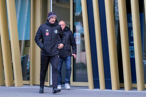 Der neue FCL-Trainer Thomas Häberli bei seinem ersten Arbeitstag. (Bild: Martin Meienberger/freshfocus)