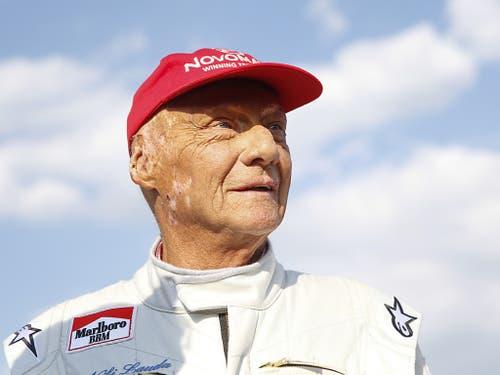 Niki Lauda am Samstag, 30. Juni 2018, während des Legenden-Rennens der Formel 1 in Spielberg (Bild: KEYSTONE/APA/APA/ERWIN SCHERIAU)