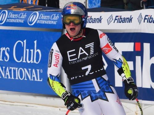 Alexis Pinturault - der Kombinations-Weltmeister gewinnt die Kombination von Bansko (Bild: KEYSTONE/EPA/GEORGI LICOVSKI)