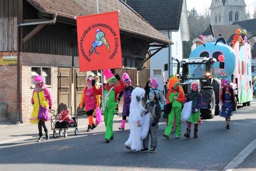 Traditionell mit dabei: Die Sonnentaler Zugvögel.
