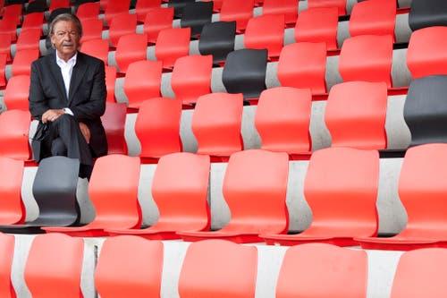 «New Orleans meets St.Gallen», St.Galler Fest und nicht zuletzt der CSIO: Peter Stössel setzte sein Organisationstalent an vielen Orten in der Stadt ein. 2004 wurde Stössel zum Ehren-Föbü, 2013 erlag er einer kurzen, schweren Krankheit im Alter von 69 Jahren. (Bild: Luca Linder, 22. Mai 2012)