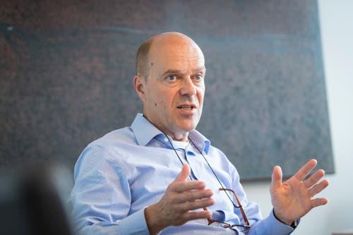 Inzwischen ist Michael Hüppi sogar Föbü-Kanzler, 2009 wurde der ehemalige FCSG-Präsident in ihren Kreis aufgenommen. (Bild: Ralph Ribi)