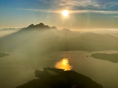 Sonnenuntergang auf Rigi Chränzeli. (Bild: Markus Brülhart, 25. Februar 2019)
