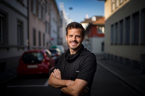 Er zeigte Födle, als er zum FC St. Gallen zurückkehrte: Tranquillo Barnetta ist Ehren-Föbü 2017. (Bild: Benjamin Manser)