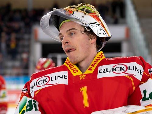 Biel ist der Gewinner der Runde - auch dank 27 Paraden von Goalie Jonas Hiller (Bild: KEYSTONE/ANTHONY ANEX)