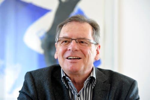 Auch Hubert Schlegel wurde erst Ehren-Föbü und dann Stadtrat. Der Oberländer war Kommandant der Stadtpolizei, als er 1992 in den Kreis der Ehren-Födlebürger aufgenommen wurde. 1997 wurde er in den Stadtrat gewählt, wo er bis 2006 blieb. 2016 erlag Schlegel im Alter von 73 Jahren einem Krebsleiden. (Bild: Hanspeter Schiess, 8. März 2011)