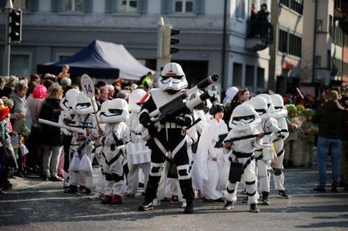 Die Imperiale Armee aus «Star Wars». (Bild: Stefan Kaiser (Zug, 28. Februar 2019))
