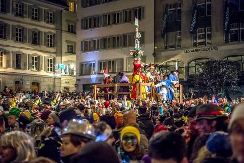 Auf dem Kapellplatz in Luzern. (Bild: Pius Amrein, Luzern, 28. Februar 2019)