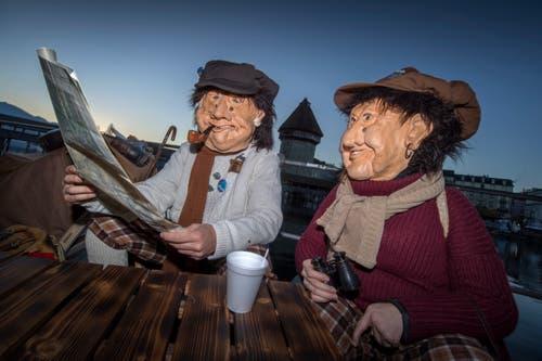 Mit dem Urknall und der Fritschitagwache beginnt die Fasnacht 2019 in Luzern. (Bild: Pius Amrein, Luzern, 28. Februar 2019)