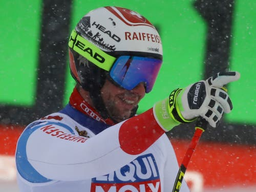 Beat Feuz schonte auch sein lädiertes Knie für Kvitfjell (Bild: KEYSTONE/AP/MARCO TROVATI)