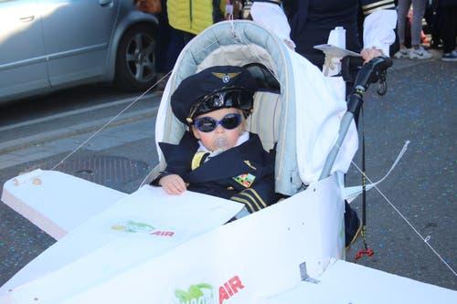 Keiner zu klein, ein Pilot zu sein. (Bild: Marion Wannemacher, 28. Februar 2019)