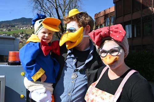 ... und Enten aus Kerns äh Entenhausen liefen am Umzug mit.