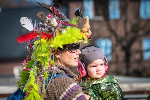 Auch die Zuschauer waren wunderschön kostümiert. (Bild: Christian H. Hildebrand, (Unterägeri, 28.Februar 2019))