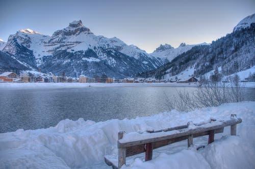 Frostiger Morgen in Engelberg. (Bild: Caroline Pirskanen, Engelberg, 5. Februar 2019)
