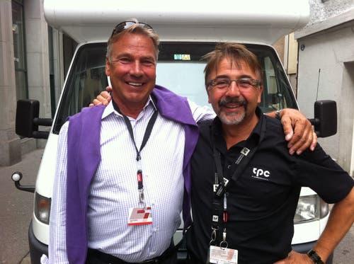 Marco Lucchi mit dem verstorbenen Fernseh- und Radio-Moderator Kurt Zurfluh. (Bild:PD)