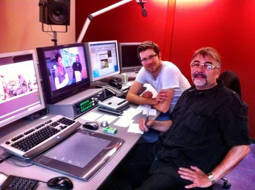 Marco Lucchi an seinem Arbeitsplatz beim Schweizer Fernsehen. (Bild: PD)
