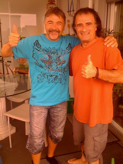 Marco Lucchi mit «Krokus»-Sänger Marc Storace. (Bild: PD)