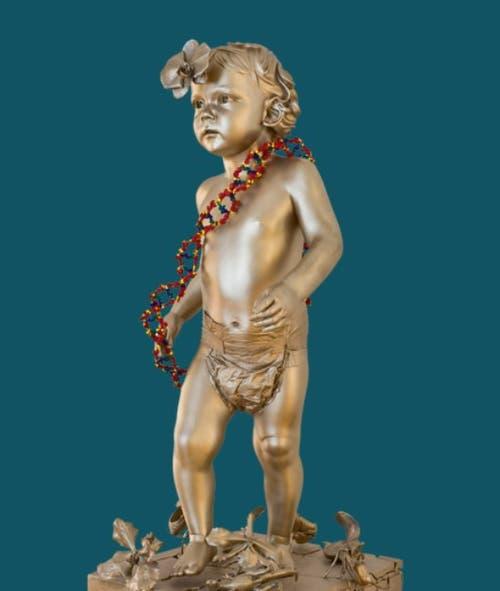Die Skulptur aus Bronze und Kunststoff ist Aushängeschild der neusten Ausstellung. Geschaffen hat sie Marc Quinn 2009, der ihr auch den Namen AAA GTATA GGCAG gab. (Bild: PD)