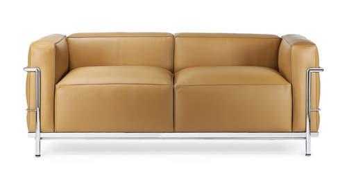 Sofa LC 3 von Le Corbusier, bei Cassina, etwa 8800 Franken.